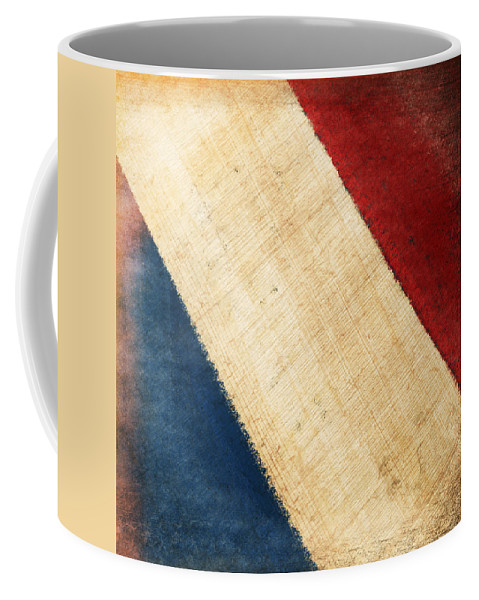 Aged Coffee Mug featuring the photograph French Flag by Setsiri Silapasuwanchai
