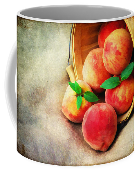 Agriculture Coffee Mug featuring the photograph Fresh Peaches by Darren Fisher