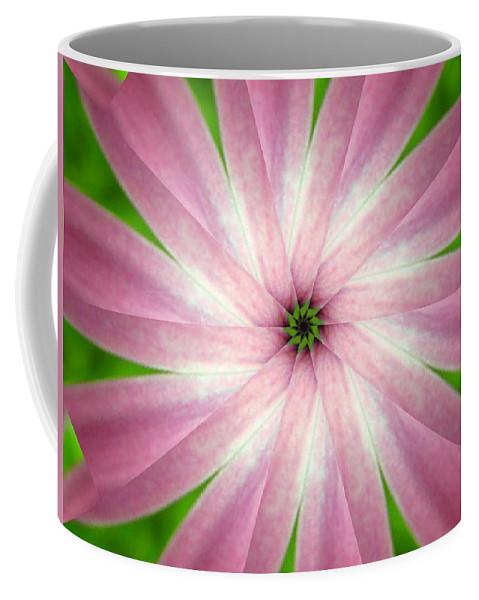 Photo Coffee Mug featuring the digital art Fresh Pink by Rhonda Barrett