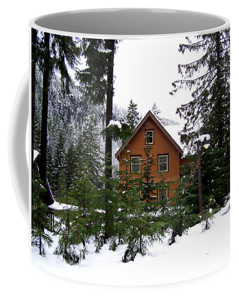 Seattle Coffee Mug featuring the photograph Fresh Snow Glory by Kathy White