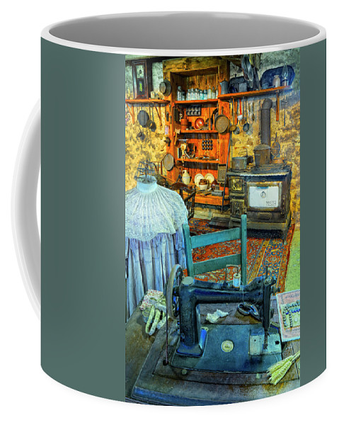 Sewing Machine Coffee Mug featuring the photograph From A Time Long Ago by Dave Mills