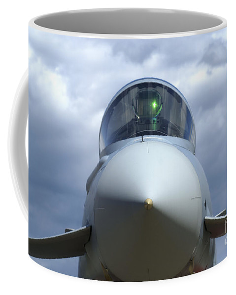 No People Coffee Mug featuring the photograph Front View Of A Eurofighter Typhoon by Ramon Van Opdorp