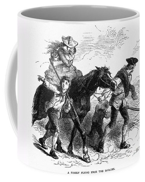 1755 Coffee Mug featuring the photograph Frontier Family, 1755 by Granger