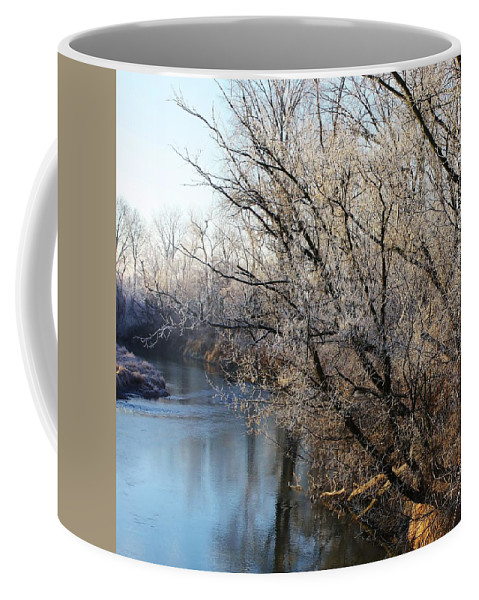 Elkorn Creek Coffee Mug featuring the photograph Frosty Morning by Bruce Bley