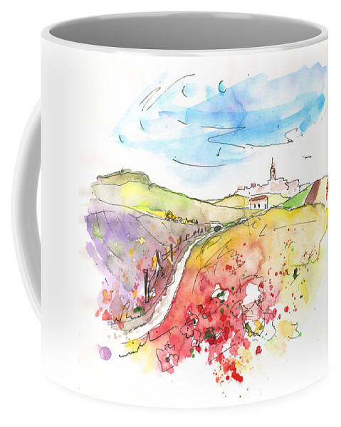 Travel Coffee Mug featuring the painting Fuente Obejuna 02 by Miki De Goodaboom