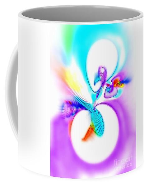 Funny Coffee Mug featuring the digital art Funny Cuckoo by Klara Acel