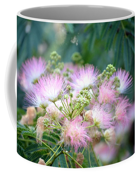 Furry Coffee Mug featuring the photograph Furry Pink Bouquet by Maria Urso