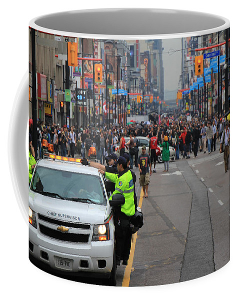 Toronto Coffee Mug featuring the photograph G20 Summit Toronto by Andrew Fare