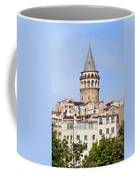 Galata Coffee Mug featuring the photograph Galata Tower In Istanbul by Artur Bogacki