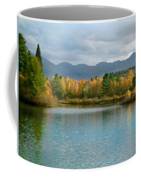 White Mountain Coffee Mug featuring the photograph Gale River In Franconia New Hampshire by Nancy Griswold