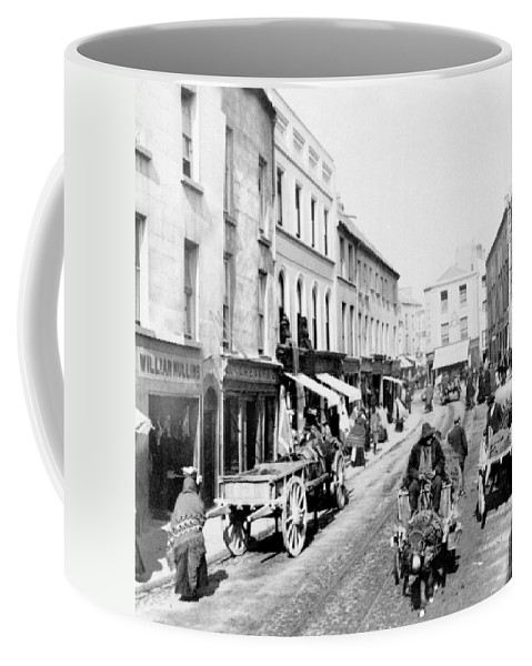 high Street Coffee Mug featuring the photograph Galway Ireland - High Street - C 1901 by International Images