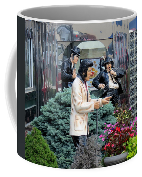 Elvis Coffee Mug featuring the photograph Garden Party by Kay Novy