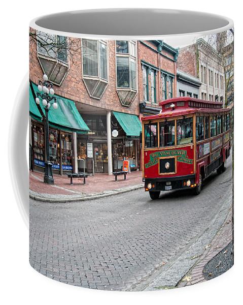 Canada Coffee Mug featuring the digital art Gastown Street Scene by Carol Ailles