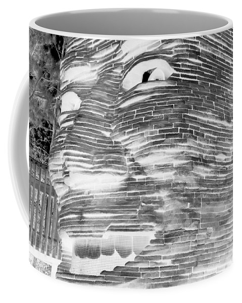 Architecture Coffee Mug featuring the photograph Gentle Giant In Negative Black And White by Rob Hans