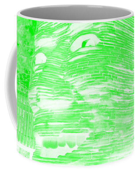 Architecture Coffee Mug featuring the photograph Gentle Giant In Negative Light Green by Rob Hans