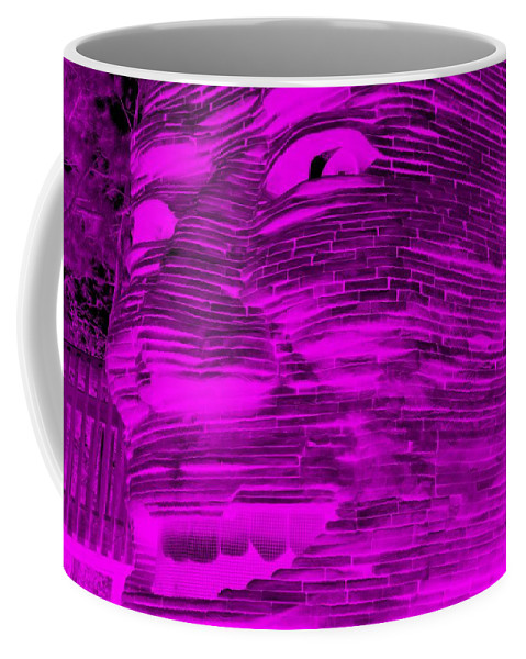 Architecture Coffee Mug featuring the photograph Gentle Giant In Negative Purple by Rob Hans