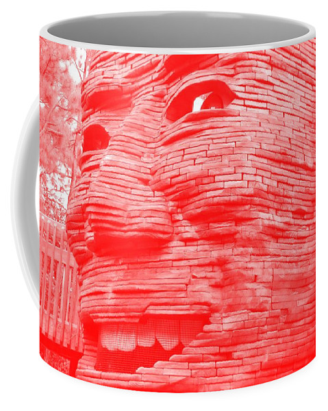 Architecture Coffee Mug featuring the photograph Gentle Giant In Negative Red by Rob Hans