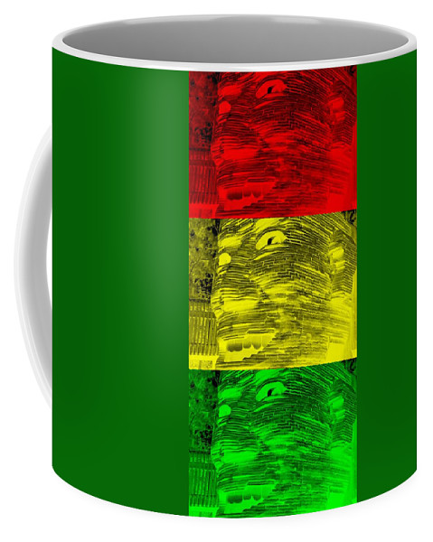Architecture Coffee Mug featuring the photograph Gentle Giant In Negative Stop Light Colors by Rob Hans