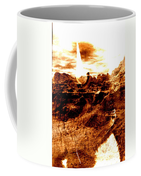 Bison Coffee Mug featuring the photograph Ghost Of The Past by Rick Rauzi