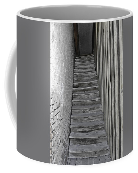Brick Coffee Mug featuring the photograph Ghost Town Stairs Bodie California by LeeAnn McLaneGoetz McLaneGoetzStudioLLCcom