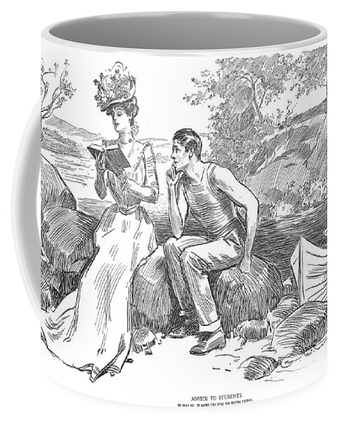 1900 Coffee Mug featuring the photograph Gibson: Advice To Students by Granger