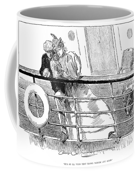 1897 Coffee Mug featuring the photograph Gibson An Ill Wind, 1897 by Granger