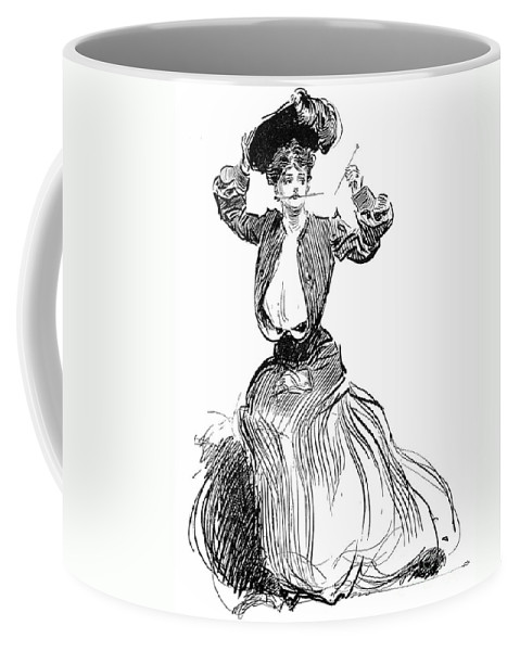 1904 Coffee Mug featuring the photograph Gibson: Gibson Girl, 1904 by Granger
