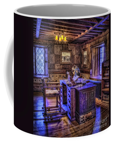 Castle Coffee Mug featuring the photograph Gillette Castle Office Hdr by Susan Candelario