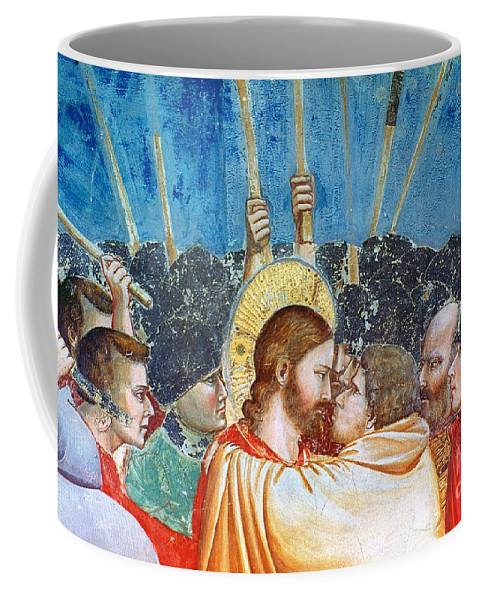 1305 Coffee Mug featuring the photograph Giotto: Betrayal Of Christ by Granger