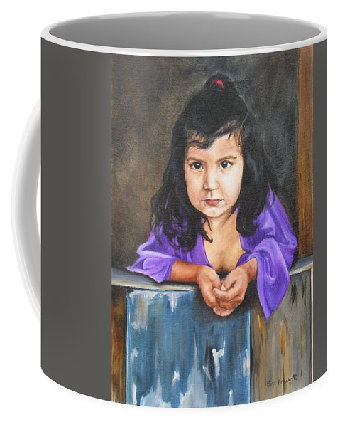 Portrait Coffee Mug featuring the painting Girl From San Luis by Lori Brackett