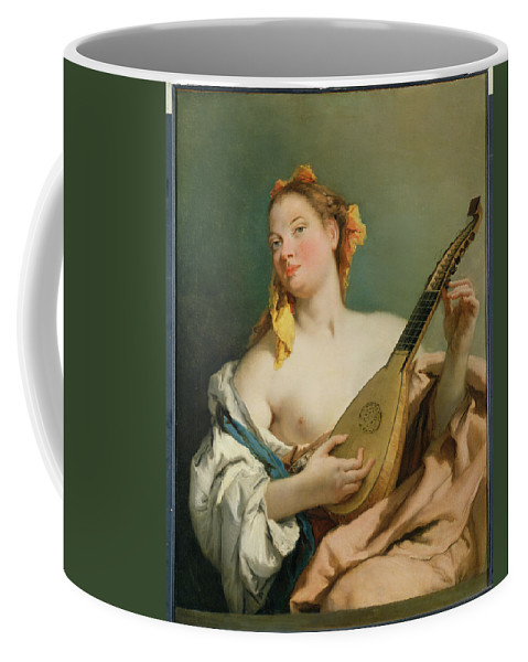 Dtr140342 Coffee Mug featuring the photograph Girl With A Mandolin by Giovanni Battista Tiepolo