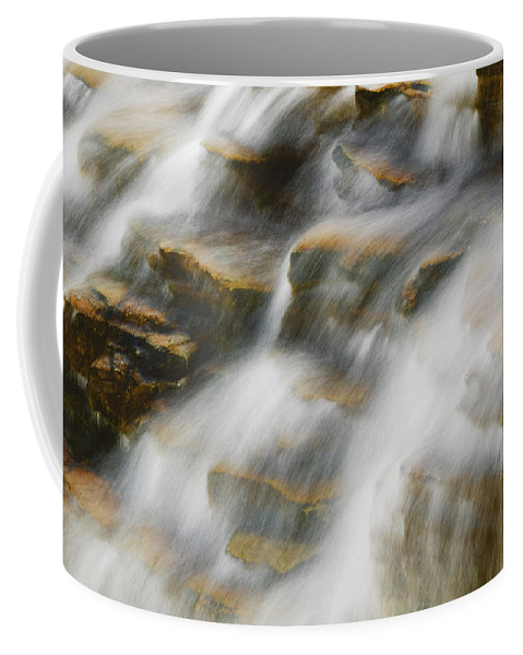 Glacier National Park Coffee Mug featuring the photograph Glacier Np Waterfall by Rich Franco
