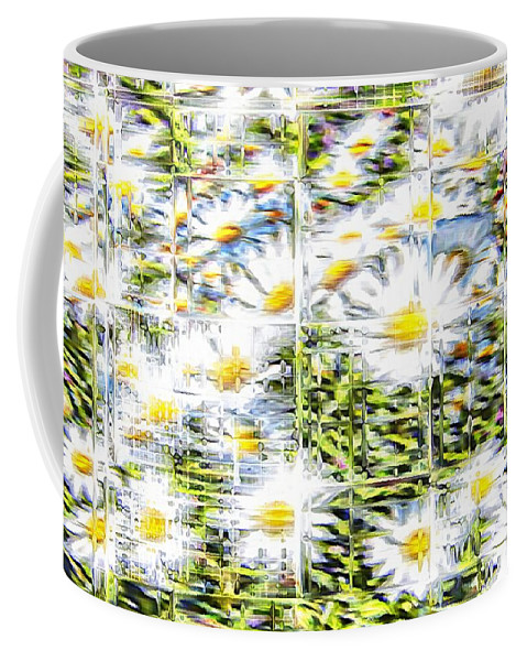 Flowers Floral White Glassy Coffee Mug featuring the photograph Glass Flowers by Alice Gipson