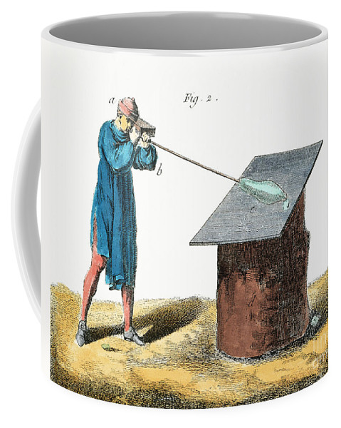 18th Century Coffee Mug featuring the photograph Glassblower, 18th Century by Granger