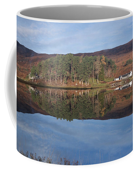Glen Affric Coffee Mug featuring the photograph Glen Affric Reflections by Howard Kennedy