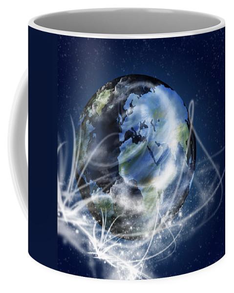 Abstract Coffee Mug featuring the photograph Globe by Setsiri Silapasuwanchai