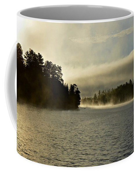 Canada Coffee Mug featuring the painting Glory In The Morning 2 by Mary Tuomi