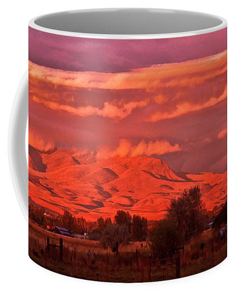 Red Coffee Mug featuring the photograph God's Light by Robert Bales