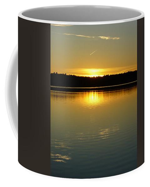 Lake Coffee Mug featuring the photograph Golden Dusk by Shirley Radebach