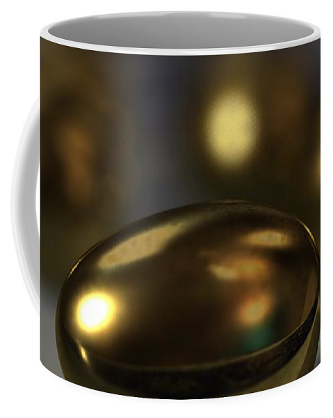 Golden Eggs Coffee Mug featuring the digital art Golden Eggs by James Barnes