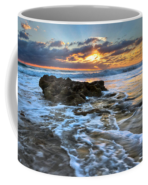 Blowing Rocks Coffee Mug featuring the photograph Golden Glow by Debra and Dave Vanderlaan