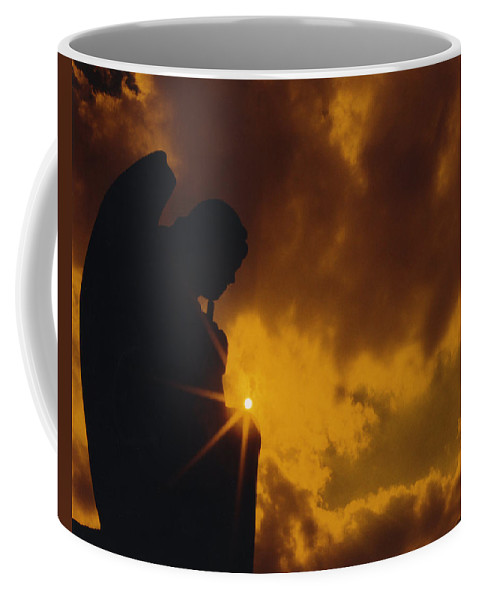 Silhouette Coffee Mug featuring the photograph Golden Light Silhouette by Gothicrow Images