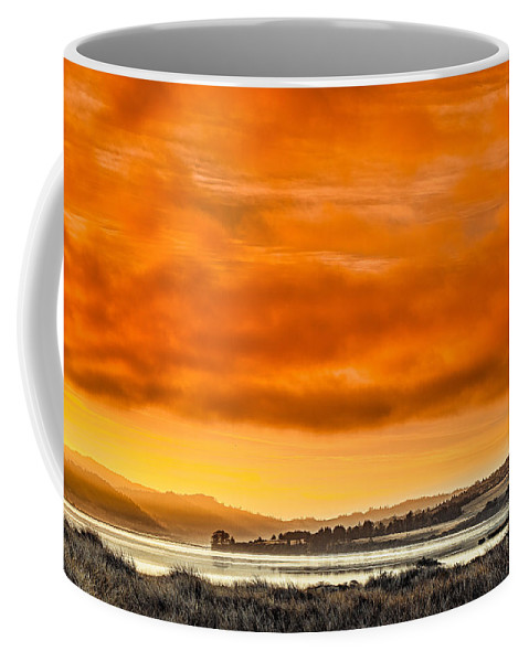 Humboldt Bay Coffee Mug featuring the photograph Golden Morning Over Humboldt Bay by Greg Nyquist