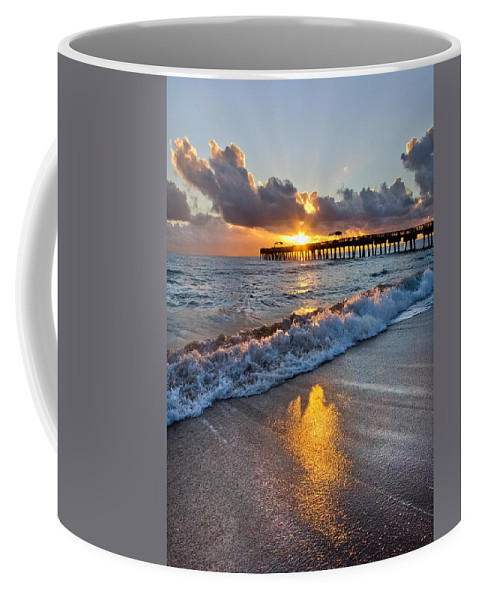 Clouds Coffee Mug featuring the photograph Golden Shadows by Debra and Dave Vanderlaan