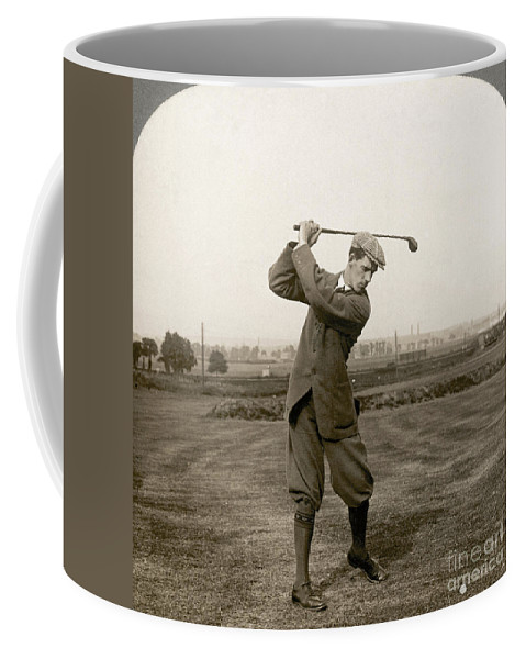1920s Coffee Mug featuring the photograph Golf: George Duncan, 1920s by Granger