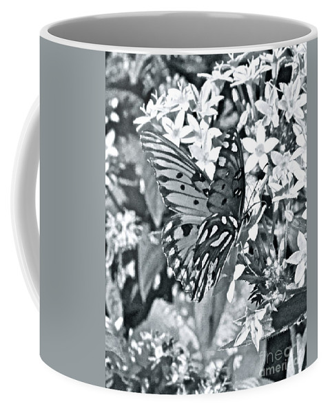 Butterfly Coffee Mug featuring the photograph Gorgeous Gulf Fritillary by Carol Bradley