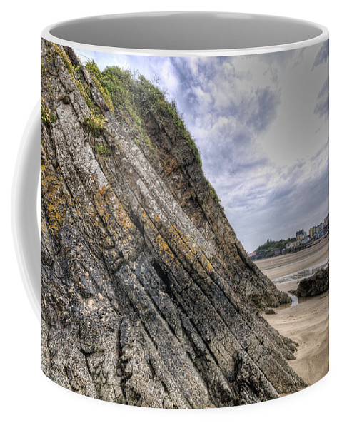 Goscar Rock Tenby Coffee Mug featuring the photograph Goscar Rock Tenby 3 by Steve Purnell