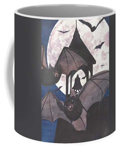 Bat Coffee Mug featuring the painting Got Bats by Catherine G McElroy