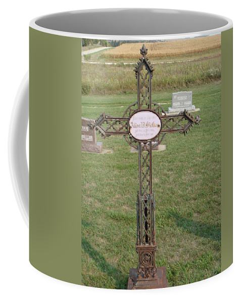 Gothic Coffee Mug featuring the photograph Gothic Grave Marker by Bonfire Photography