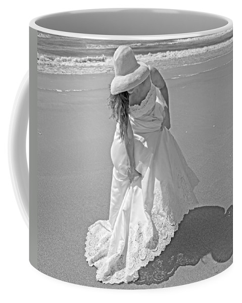 Topsail Coffee Mug featuring the photograph Gown Gathering by Betsy Knapp